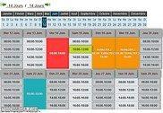 Agenda des disponibilités / réservation horaire
