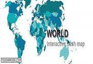 Carte du monde interactive en Flash Flash