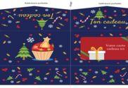 Pochette carte cadeau de Noël imprimable