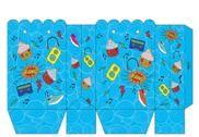Pochette carte cadeau bleue à imprimer