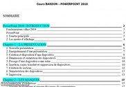 Cours Bardon - PowerPoint 2010 Informatique