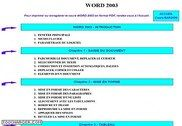 Cours Bardon - Word 2003