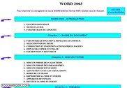 Cours Bardon - Word 2003 Informatique