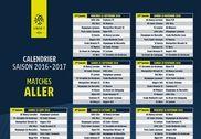 Calendrier Ligue 1 2016-2017 Bureautique