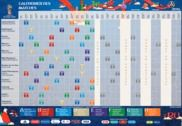 Calendrier Officiel Coupe du monde 2018