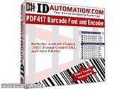 IDAutomation PDF417 Font and Encoder Bureautique