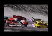 Hiver Neige Rallye Car Course Jeux