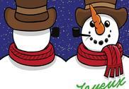 Carte Bonhomme de neige Noël PDF