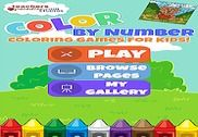 Color By Number Kids Art Game Jeux