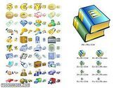 Business Icon Set Personnalisation de l'ordinateur
