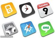 Comic iPhone Icons Personnalisation de l'ordinateur