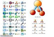 Science Icon Set Personnalisation de l'ordinateur