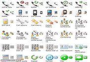 Standard Telephone Icons Personnalisation de l'ordinateur