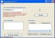 Transparency Personnalisation de l'ordinateur