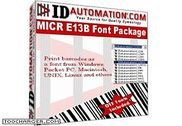 IDAutomation MICR E13B Font Advantage Bureautique
