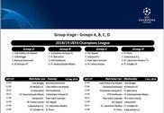 Calendrier Officiel de la Ligue des Champions 2018-2019