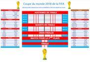 Russie 2018 Feuille de pronostics Coupe du Monde