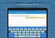 Simple Light Blue Keyboard Theme Bureautique