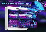 Blue Butterfly Keyboard Theme Bureautique