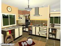 Cuisine et salle de bains 3D