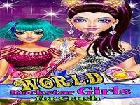 World Rockstar Girls for Crush - Jeux Pop Star