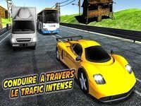 Course de voiture de circulation extrême