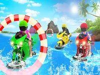 Eau Surfeur bicyclette flottant course