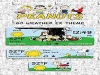 Peanuts Weather Widget Theme
