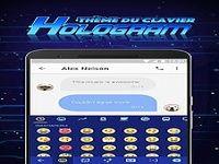 Thème du clavier Emoji Hologramme 3D Néon