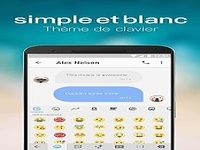 Thème du Clavier Emoji Simple Blanc