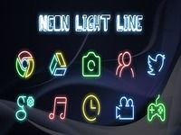 Neon Light Line - Solo Launcher Theme