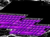 Clavier à thème violet