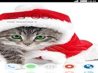 Holiday Kitty CLauncher Theme