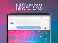 Diffusion Emoji Keyboard Theme For iPhone X