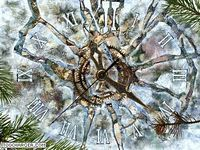 Ice Clock 3D Screensaver