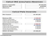 Calcul IRG au prorata