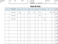 Note de frais Excel