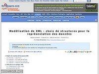 Modélisation de XML : choix de structures