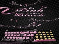 Pink & Black Kika Keyboard Theme