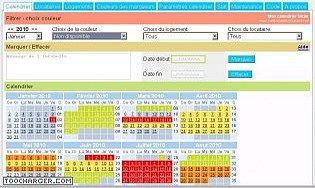 Calendrier de réservation php