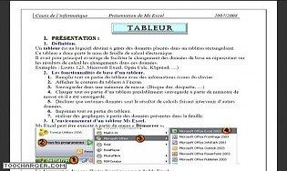 MS Excel  2003 -Cours et travaux pratique
