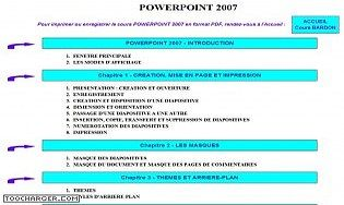 Cours Bardon - Powerpoint 2007