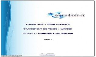 Des cours de writer cours et exercices t l charger - Open office writer telecharger gratuit ...