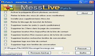 Patch MessLive pour MSN Messenger