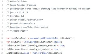 Twitter Cramming.user.js
