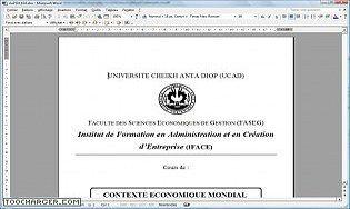 Contexte Economique mondial cours MSG1 IFACE