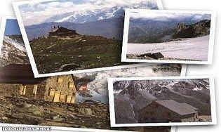 Cabanes et montagnes des Alpes suisses
