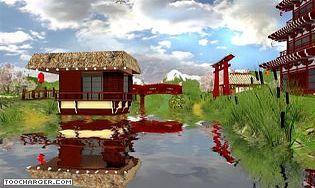 Ecran de veille 3d jardin japonais t l charger for Jardin 3d mac