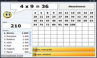 Multiplication t l charger gratuitement la derni re version - Logiciel educatif tables de multiplication ...