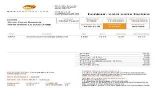 Exemple de facture sous word for Exemple de facture word